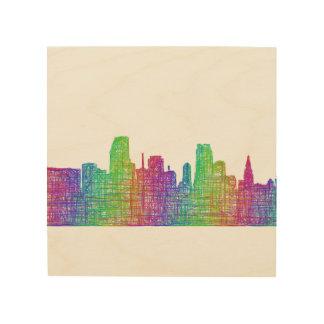 Miami skyline wood print