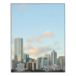 Miami skyscrapers against wide clear sky