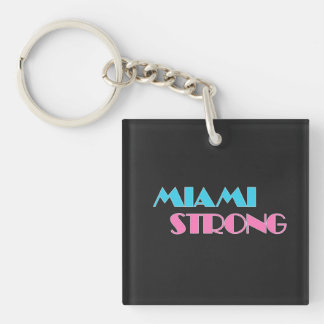 Miami Strong black keychain