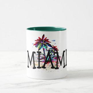 miami summer beach fun palm tree travel coffee mug