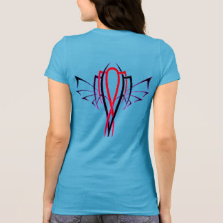 Miami Winged Pin Stripe T-Shirt