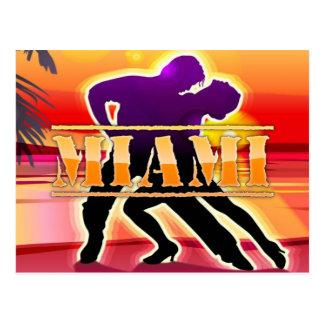 Miami Woman and Man Dancing Postcard