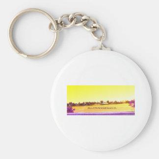 Miami yellow jpg key ring