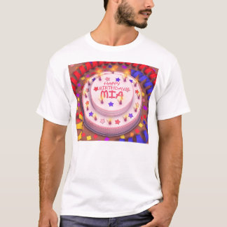 Mia's Birthday Cake T-Shirt