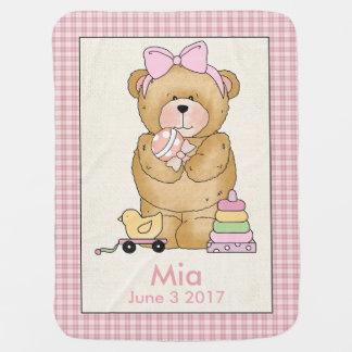 Mia's Personalized Baby Bear Blanket