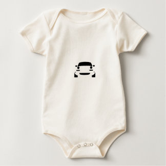 Miata Outline Baby Bodysuit