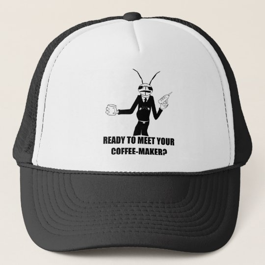 MIB Worm Cricket Coffee Maker Trucker Hat