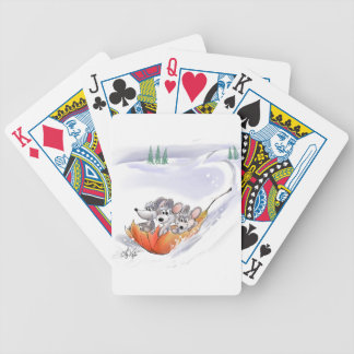 Mic, Mac And Moe's Winter Holiday Playing Cards