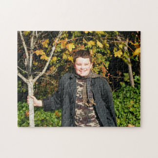 Micah in the Fall Jigsaw Puzzle