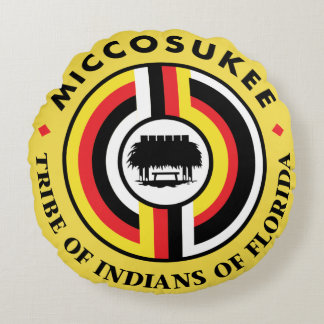 Miccosukee Tribe Round Cushion