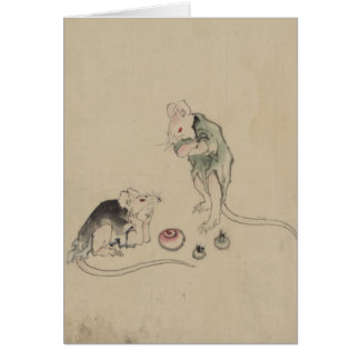 Mice in Council Note Card