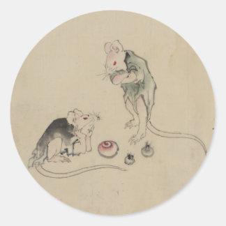 Mice in Council Round Sticker