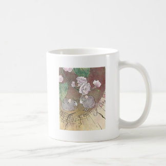 Mice in Log with Roses Mug