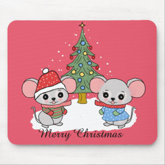 mice of Christmas Mouse Pad