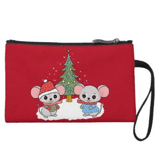 mice of Christmas Wristlet Purse