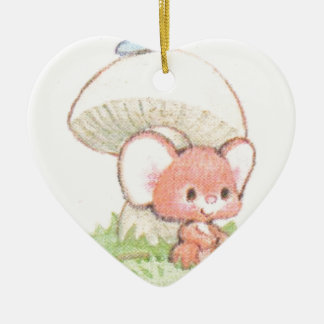 Mice Summertime Daydreaming Ceramic Heart Decoration