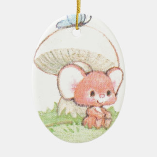 Mice Summertime Daydreaming Ceramic Oval Decoration