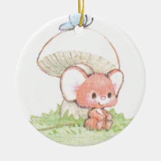 Mice Summertime Daydreaming Round Ceramic Decoration