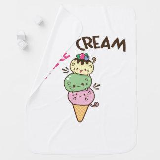 Micecream (Ice cream) Baby Blanket