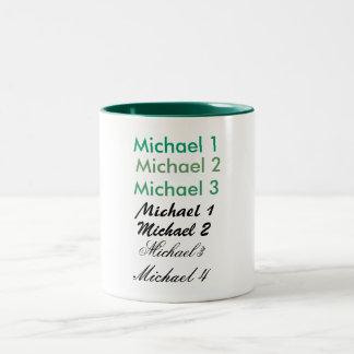 Michael 3 Two-Tone mug