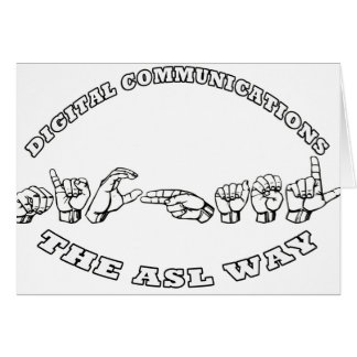 MICHAEL ASL  FINGERSPELLED DIGITAL COMMUNICATIONS CARD