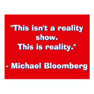 Michael Bloomberg Quote Postcard