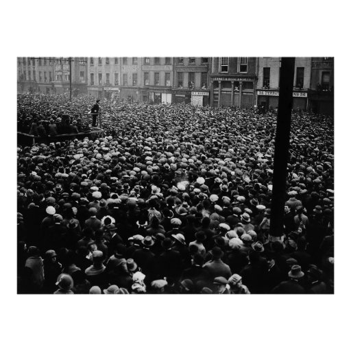 Michael Collins Free State Demonstration 1922 Print