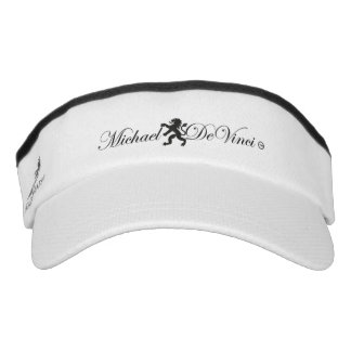 Michael DeVinci, Knit Visor, White Visor