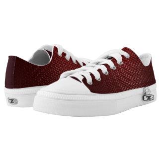Michael DeVinci Low Top Shoes Burgandy Carbon