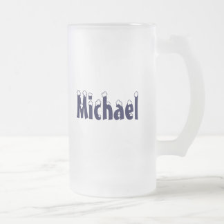 Michael-Frosted mug