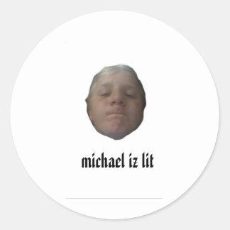 michael iz lit stickers