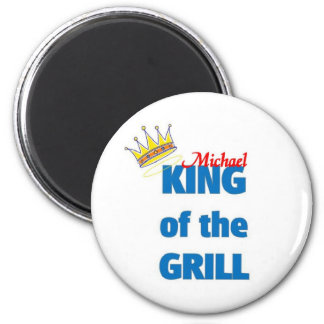 Michael king of the grill 6 cm round magnet