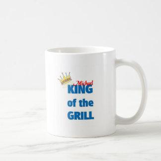 Michael king of the grill basic white mug