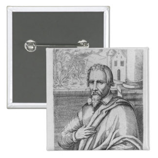 Michael Servetus 15 Cm Square Badge