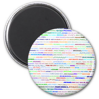 Michael Text Design II Round Magnet