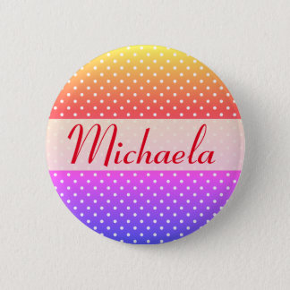 Michaela name plate Anstecker 6 Cm Round Badge