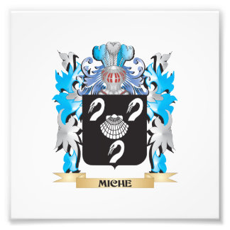 Miche Coat of Arms - Family Crest Photographic Print