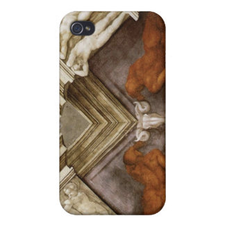 Michelangelo Bronze Nudes Sistine Chapel iPhone 4 Cases
