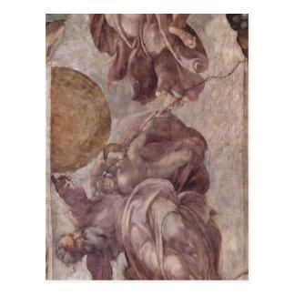 Michelangelo Buonarroti Deckenfresko zur Sch?pfung Postcard