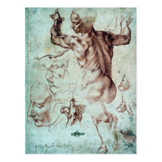 Michelangelo Buonarroti Studies for Libyan Sibyl Postcard