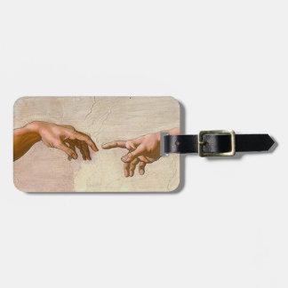 Michelangelo Creation of Adam Luggage Tag