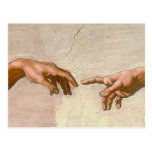 Michelangelo Creation of Adam Post Card