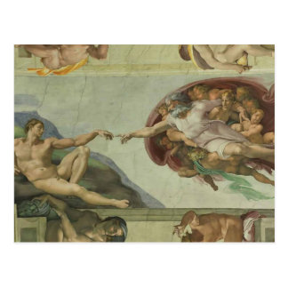 Michelangelo: Creation of Adam Postcard