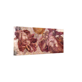 Michelangelo - Divorce of light and darkness Gallery Wrapped Canvas