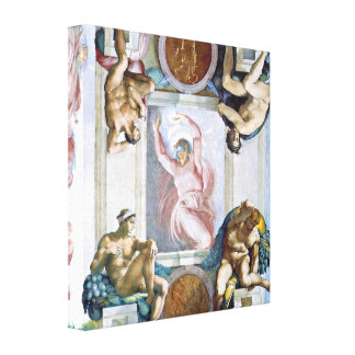 Michelangelo - God separates light and darkness Gallery Wrap Canvas