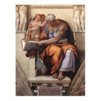 Michelangelo:Sistine Chapel Ceiling: Cumaean Sibyl Postcard