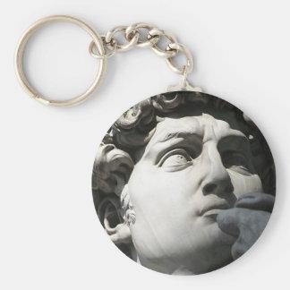 Michelangelo's David Basic Round Button Key Ring