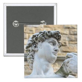 Michelangelo's David, Florence Italy 15 Cm Square Badge