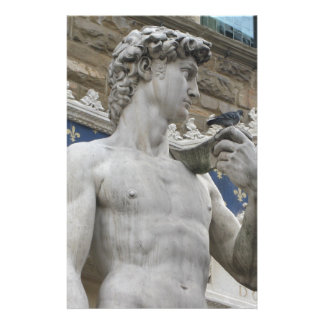 Michelangelo's David  Florence, Italy Personalized Stationery