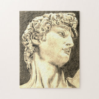 Michelangelo's David, My pencil drawing sepia Jigsaw Puzzle